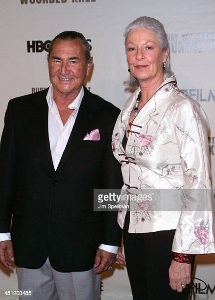 August Schellenberg and Jane Alexander during HBO Films' Bury My Heart at Wounded Knee Arrivals at American Museum of Natural History in New York...