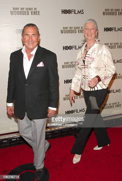 """August Schellenberg and Jane Alexander during The World Premiere of HBO Film's """"Bury My Heart at Wounded Knee"""" - Arrivals at American Museum of..."""
