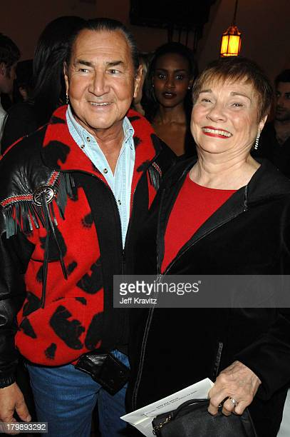 August Schellenberg and wife during HBO 2007 PreGolden Globes Party at Chateau Marmont in Los Angeles California United States
