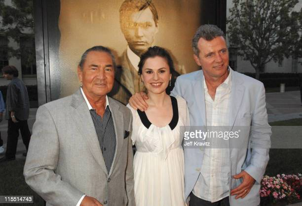 August Schellenberg Anna Paquin and Aidan Quinn during Bury My Heart at Wounded Knee Los Angeles Premiere Red Carpet at Paramount Theater Paramount...