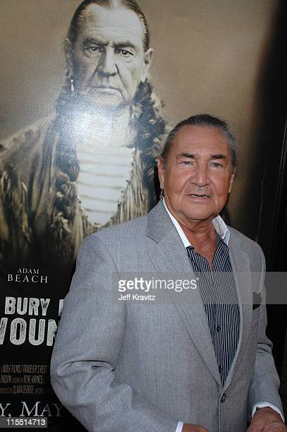 """August Schellenberg during """"Bury My Heart at Wounded Knee"""" Los Angeles Premiere - Red Carpet at Paramount Theater, Paramount Pictures Studio in Los..."""