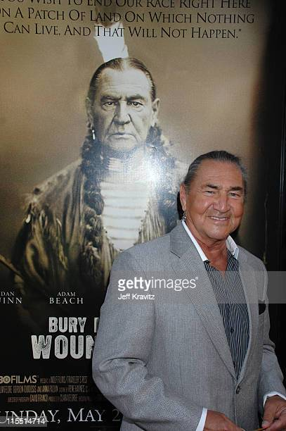 August Schellenberg during Bury My Heart at Wounded Knee Los Angeles Premiere Red Carpet at Paramount Theater Paramount Pictures Studio in Los...