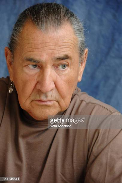 """August Schellenberg during """"Bury My Heart at Wounded Knee"""" Press Conference with Anna Paquin, Adam Beach, Aidan Quinn and August Schellenberg at The..."""