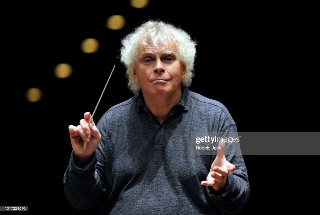 Sir Simon Rattle conducts the LSO playing Mahler Symphony No9 at The Usher Hall as part of the Edinburgh International Festival 2018 on August 11, 2018 in Edinburgh, Scotland.