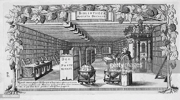 August von BrunswickLüneburg in his library 1650 Private Collection Artist Buno Conrad