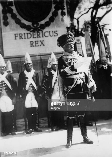 August von Mackensen german soldier and field marshal at the 125 year commemoration for the battle of Leuthen Photograph Germany 1932...