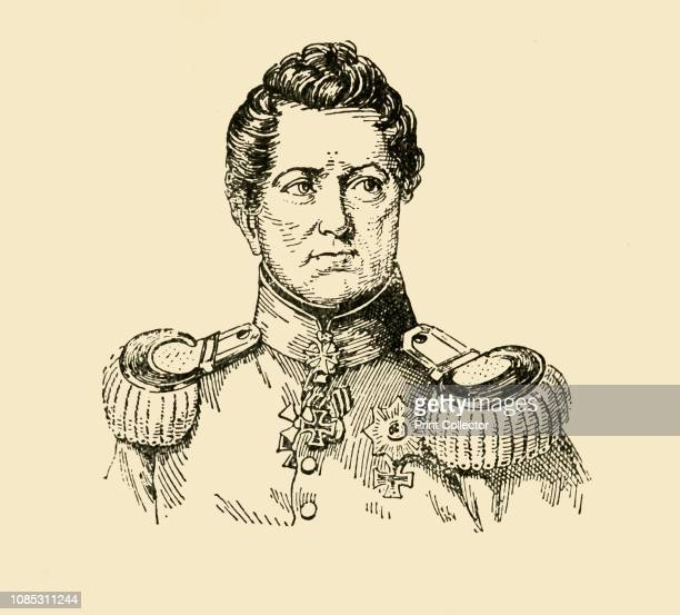 August Wilhelm Anton Graf Neidhardt von Gneisenau' Portrait of Prussian field marshal August Neidhart Count of Gneisenau a prominent figure in the...