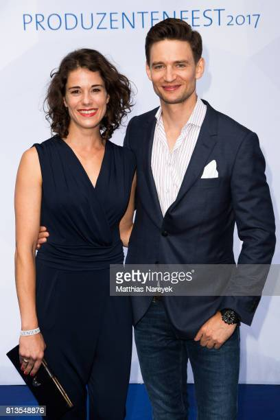 August Wittgenstein and Anna Schaefer attend the Summer Party of the German Producers Alliance on July 12 2017 in Berlin Germany