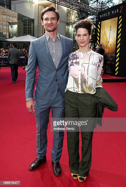 August Wittgenstein and Bibiana Beglau attend 'WORLD WAR Z' Germany Premiere at Sony Centre on June 4 2013 in Berlin Germany