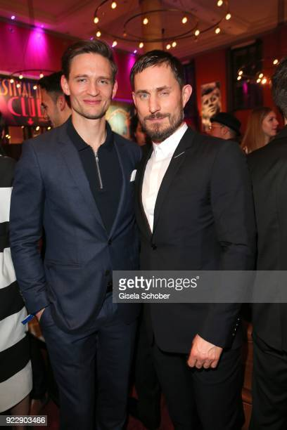 August Wittgenstein and Clemens Schick during the BUNTE BMW Festival Night 2018 on the occasion of the 68th Berlinale International Film Festival...