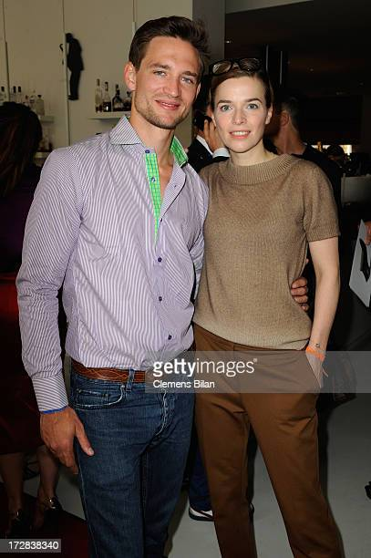 August Wittgenstein and Thekla Reuten attend the Gala Fashion Brunch at Ellington Hotel on July 5 2013 in Berlin Germany