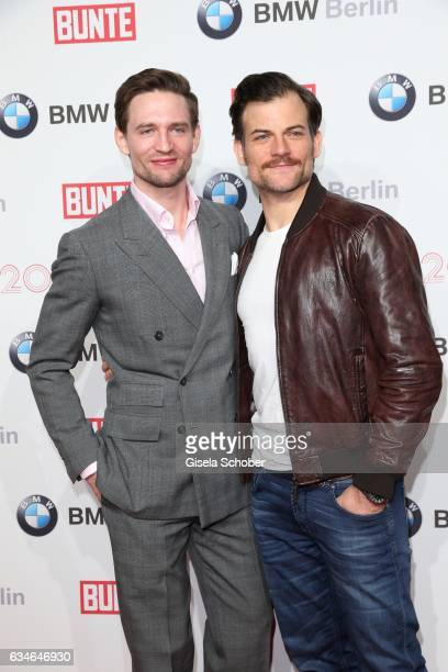 August Wittgenstein and Torben Liebrecht during the BUNTE & BMW Festival Night during the 67th Berlinale International Film Festival Berlin at...