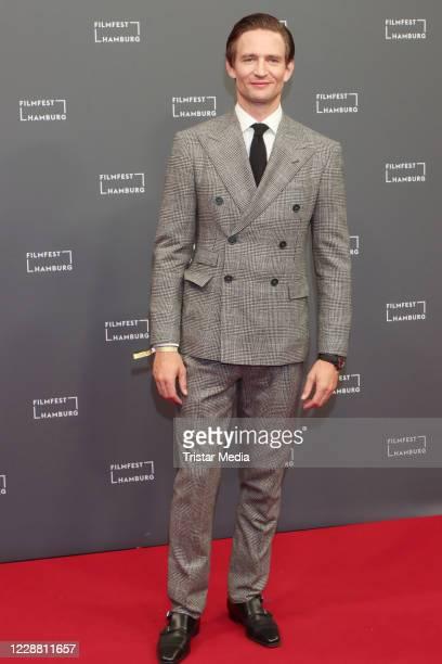"""August Wittgenstein attends the """"Das Geheimnis des Totenwaldes"""" premiere during Hamburg film festival on September 30, 2020 in Hamburg, Germany."""