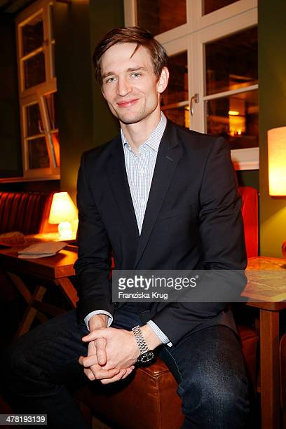 August Wittgenstein attends the Drykorn X Bungalow Dinner at Pauly Saal on March 12 2014 in Berlin Germany