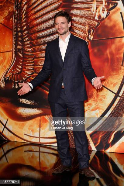 August Wittgenstein attends the German premiere of the film 'The Hunger Games Catching Fire' at Sony Centre on November 12 2013 in Berlin Germany