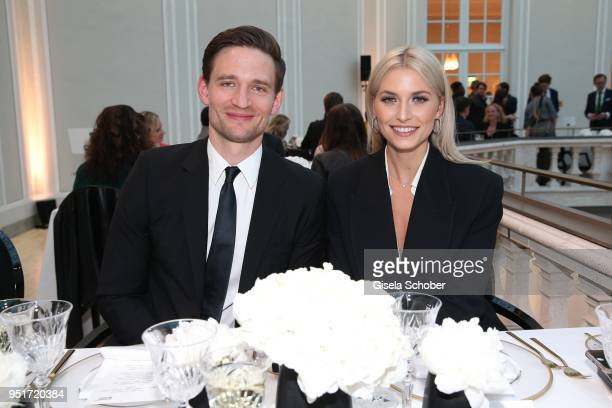 August Wittgenstein Brand Ambassador Montblanc and Lena Gercke Brand Ambassador Montblanc during the 27th Montblanc de la Culture Arts Patronage...