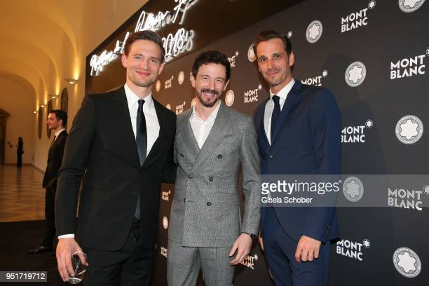 August Wittgenstein Brand Ambassador Montblanc Oliver Berben and Max von Thun during the 27th Montblanc de la Culture Arts Patronage Award at...