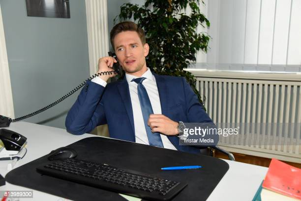 August Wittgenstein during 'Jenny Echt gerecht' RTL TV series Set Visit In Berlin on July 13 2017 in Berlin Germany