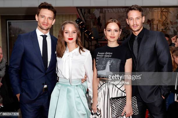 August Wittgenstein Sonja Gerhardt Emilia Schuele and Vladimir Burlakov attend the Jupiter Award at Cafe Moskau on March 29 2017 in Berlin Germany