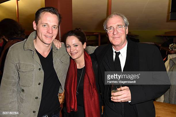 August Zirner and his son Johannes Zirner and his wife during the Bavarian Film Award 2016 show at Prinzregententheater on January 15 2016 in Munich...