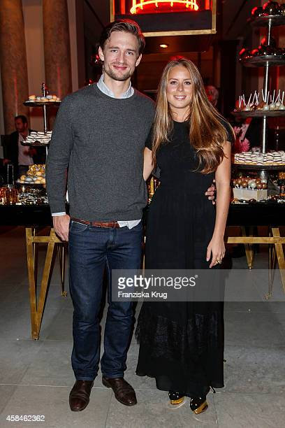 August zu SaynWittgenstein Berleburg and Lydia Forte attend the ReOpening of the 'La Banca' restaurant at Hotel de Rome on November 05 2014 in Berlin...