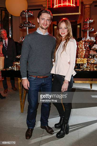 August zu SaynWittgenstein Berleburg and Sandra von Ruffin attend the ReOpening of the 'La Banca' restaurant at Hotel de Rome on November 05 2014 in...