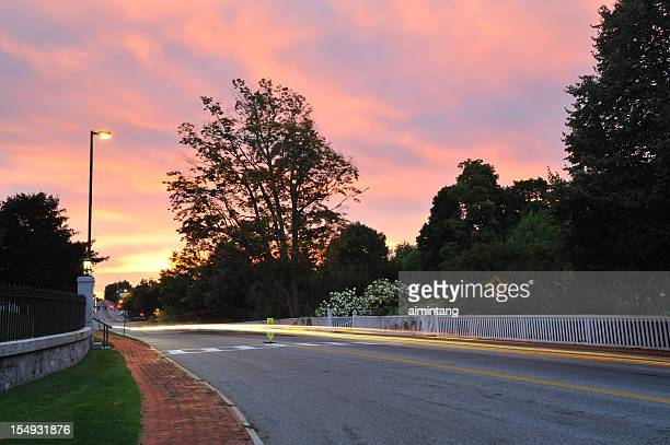 augusta at sunset - augusta maine stock pictures, royalty-free photos & images