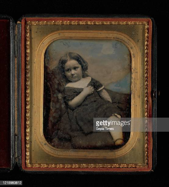 Augusta Hawes at Four Years Old 1850s Daguerreotype Plate 127 x 107 cm Photographs Albert Sands Southworth Josiah Johnson Hawes