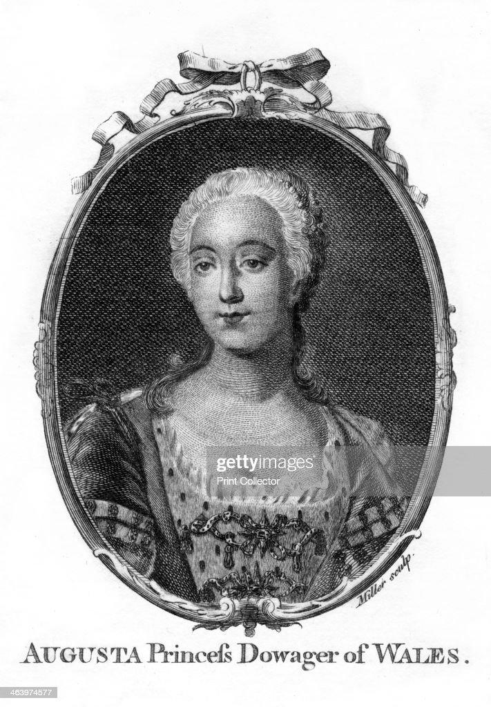 Augusta, Princess of Wales, (1719-1772).Artist: Miller : News Photo