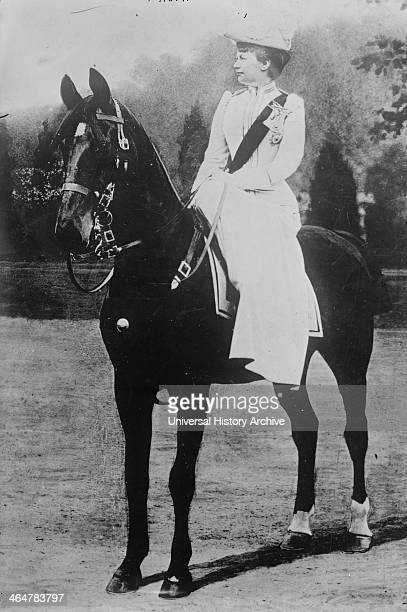 Augusta Victoria of Schleswig Holstein on horse
