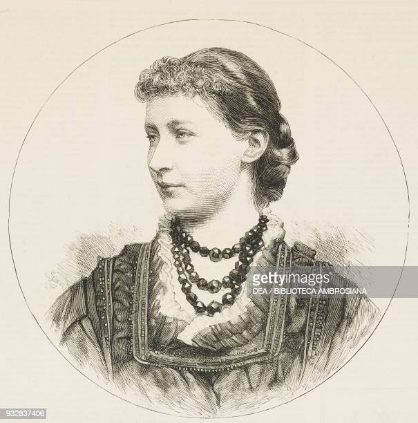 Augusta Victoria of SchleswigHolstein wife of Wilhelm II of Germany illustration from the magazine The Graphic volume XXIII n 588 March 8 1881