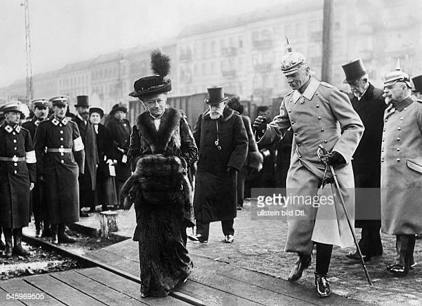 Augusta Victoria of SchleswigHolstein*22101858Empress of GermanyQueen of Prussiawife of Emperor Wilhelm IIvisiting a military hospital undated
