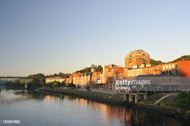 augusta waterfront - augusta maine stock pictures, royalty-free photos & images
