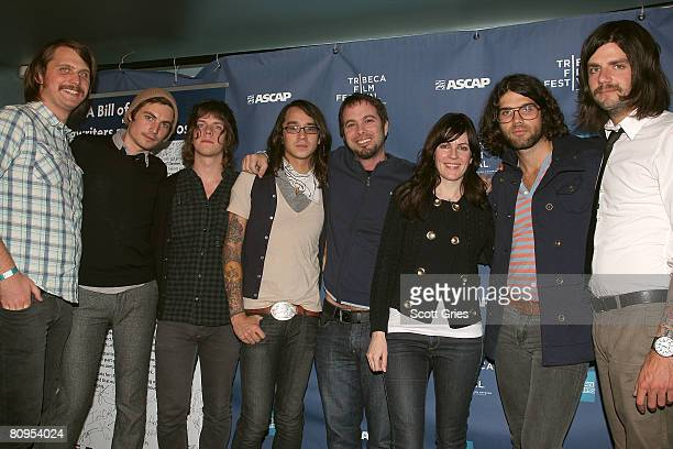 Augustana and Tom Desavia of ASCAP at the Tribeca ASCAP Music Lounge held at the Canal Room during the 2008 Tribeca Film Festival on May 1, 2008 in...