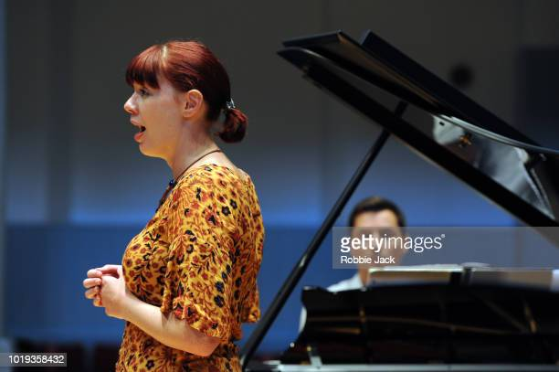 August]:Catriona Morison and Simon Lepper at The Queens's Hall as part of the Edinburgh International Festival 2018 on August 14, 2018 in Edinburgh,...