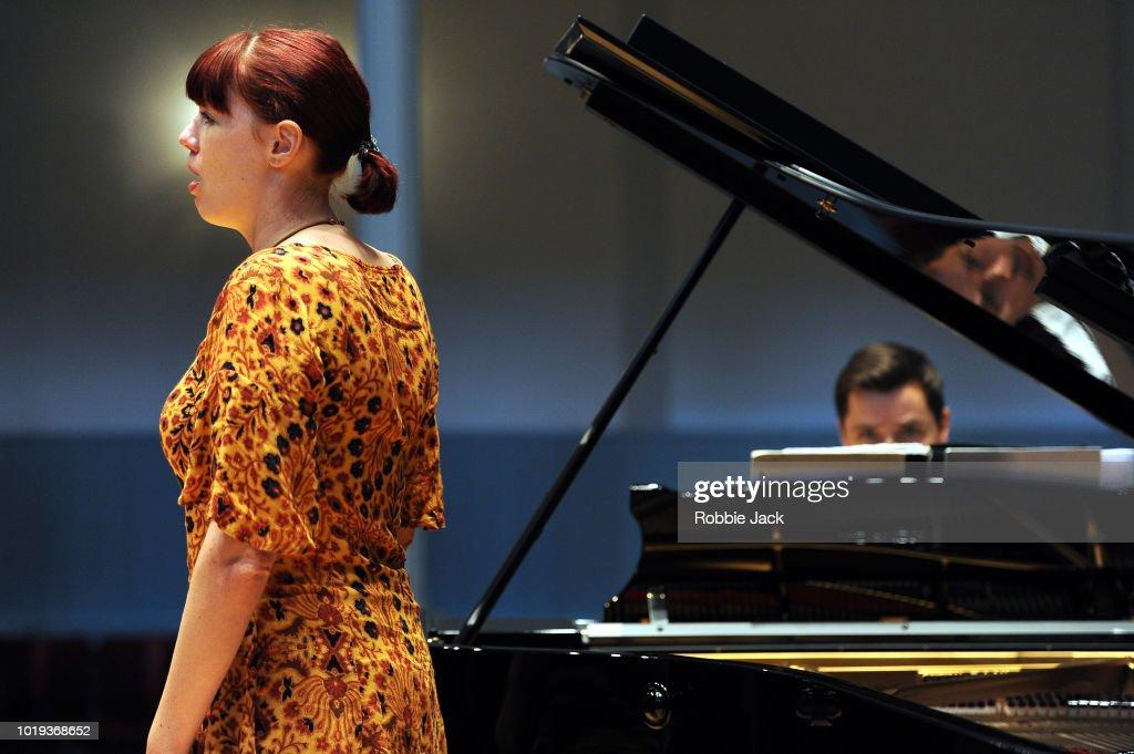 Catriona Morison and Simon Lepper at The Queens's Hall as part of the Edinburgh International Festival 2018 on August 14, 2018 in Edinburgh, Scotland.