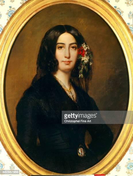 Auguste Charpentier Portrait of George Sand born Aurore Dupin, Baroness Dudevant. 1838. Paris, musee de la Vie Romantique.