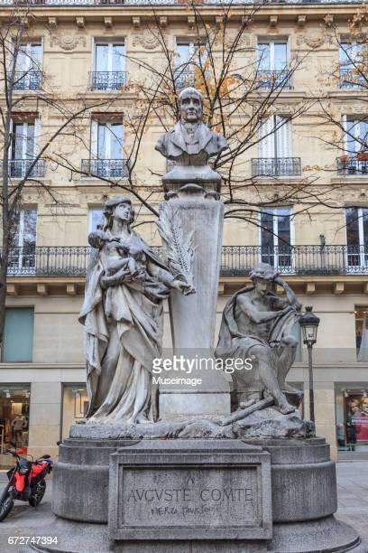 Auguste Comte monument in front of Paris-Sorbonne University, Paris