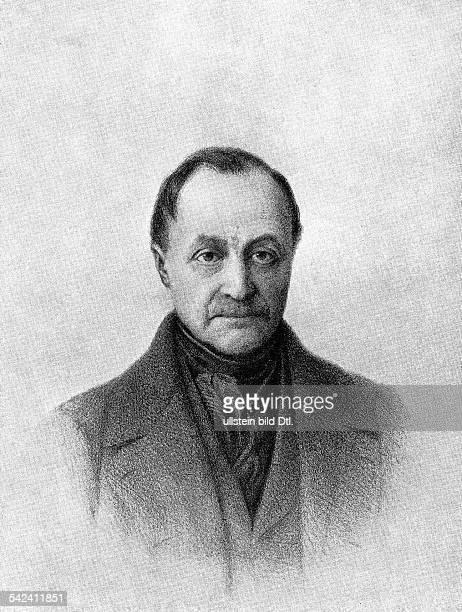 Auguste Comte*17981857Philosoph Soziologe Frankreich Portrait undatiert