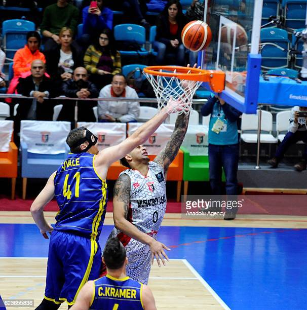 Auguste of Muratbey Usak in action during their Basketball Champions League Group C match between Muratbey Usak and EWE Baskets Olden in Usak, Turkey...