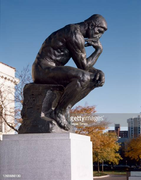 Auguste Rodin, French, 1840-1917, The Thinker bronze, Overall: 79— 51 1/4— 55 1/4 inches, 2000 pounds .