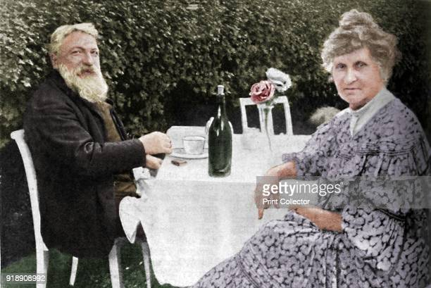 Auguste Rodin Rodin and his Wife in their Garden at Meudon' c1925 Francois Auguste Rene Rodin French sculptor From Cassell's Romance of Famous Lives...