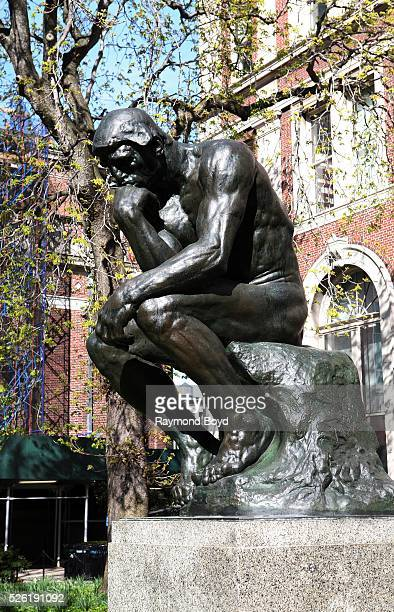 Auguste Rodin's 'The Thinker' sculpture sits outside Philosophy Hall at Columbia University in New York New York on April 16 2016
