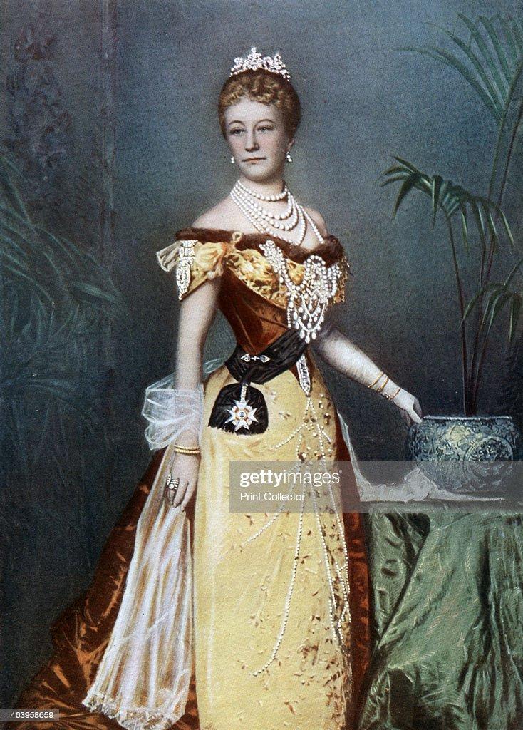 Auguste Viktoria, German empress, late 19th century.Artist: Reichard & Lindner : News Photo
