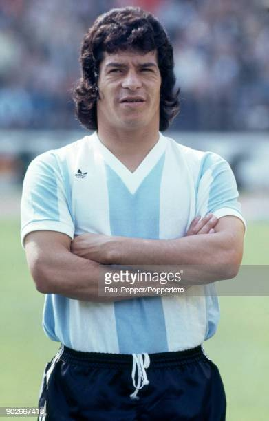 Augustin Balbuena of Argentina prior to the FIFA World Cup match between Argentina and Brazil at the Niedersachsenstadion Hannover 30th June 1974