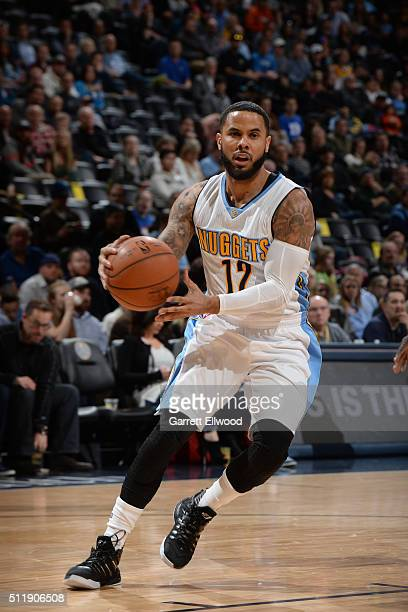 J Augustin of the Denver Nuggets handles the ball against the Sacramento Kings on February 23 2016 at the Pepsi Center in Denver Colorado NOTE TO...