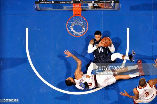 J Augustin of the Orlando Magic handles the ball against the Cleveland Cavaliers on November 5 2018 at Amway Center in Orlando Florida NOTE TO USER...