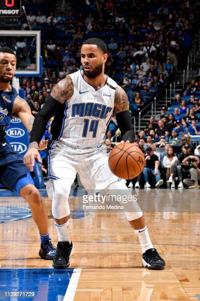 J Augustin of the Orlando Magic handles the ball against the Dallas Mavericks on March 8 2019 at Amway Center in Orlando Florida NOTE TO USER User...