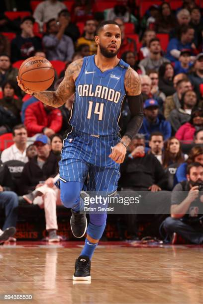 J Augustin of the Orlando Magic handles the ball against the Detroit Pistons on December 17 2017 at Little Caesars Arena in Detroit Michigan NOTE TO...