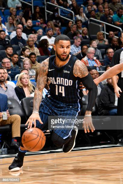 J Augustin of the Orlando Magic handles the ball against the Portland Trail Blazers on December 15 2017 at Amway Center in Orlando Florida NOTE TO...
